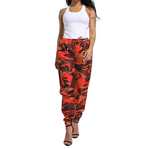 UFACE Womens Casual Camouflage Hose Baggy Hip Hop Rock Hose Tanz Cargo Jogger Sweat Pants Hose KüHle Straße Hose S-5XL -
