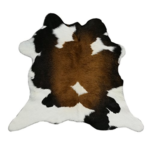 Zerimar Tapis peau de vache de veau Qualité Premium Brasil Parfait pour la décoration