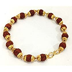 Ashvi 22 k Gold Plated Rudraksh Bracelet -- For - Men
