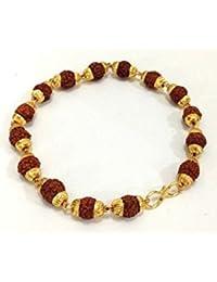 Ashvi 22 k Gold Plated Rudraksh Bracelet -- For - Men