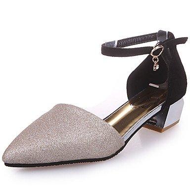 LvYuan Da donna Sandali Club Shoes PU (Poliuretano) Primavera Estate Formale Club Shoes Fibbia Quadrato Oro Nero Argento 5 - 7 cm Black