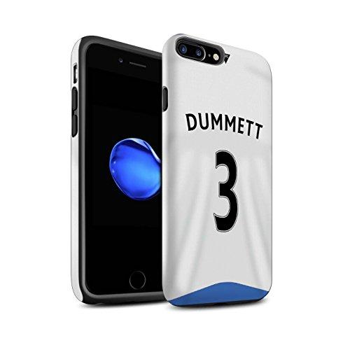 Offiziell Newcastle United FC Hülle / Matte Harten Stoßfest Case für Apple iPhone 7 Plus / Tioté Muster / NUFC Trikot Home 15/16 Kollektion Dummett