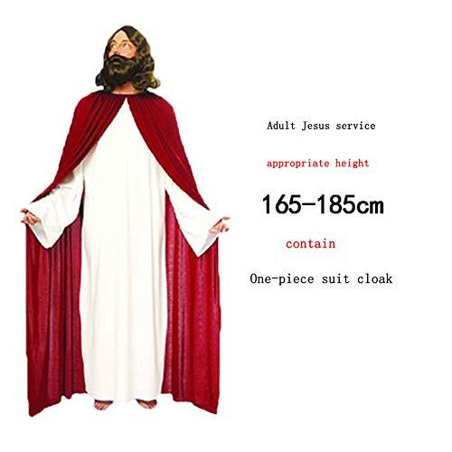 Mankvis Ostern-Kostüm Halloween-Danksagung Ostern-Jahrestagung Erwachsener Kindgott Jesus Christus Jungfrau Maria Leistungskostüm (Jesus Maria Halloween-kostüme Und)