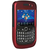 Amzer Snap On Crystal Hard Case for BlackBerry Curve 8520 Gemini - Rubberized Red