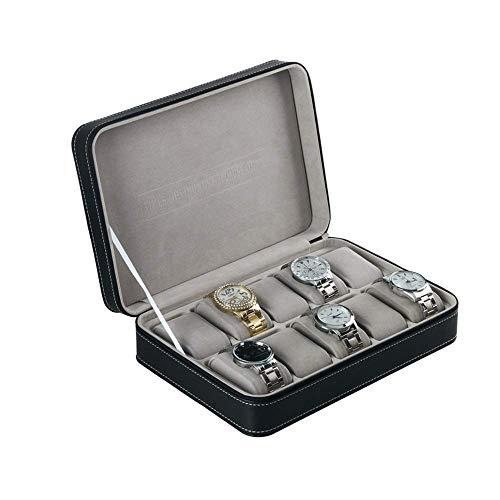 Uhr Schmuckschatulle Display Aufbewahrung Reißverschluss PU Leder Uhrenschatulle 10 Grids Multifunktions Organizer Durable Case Armband Box Case Tray (Farbe: Fotofarbe, Größe: Einheitsgröße) 32 Slot, Display-trays
