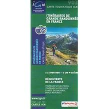 Sentiers de Grande Rando 1 : 1 000 000 (Thematic France Maps)
