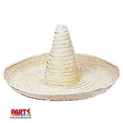 PARTY DISCOUNT ® Hut Riesen-Sombrero, Durchmesser ca. 100 cm, natur