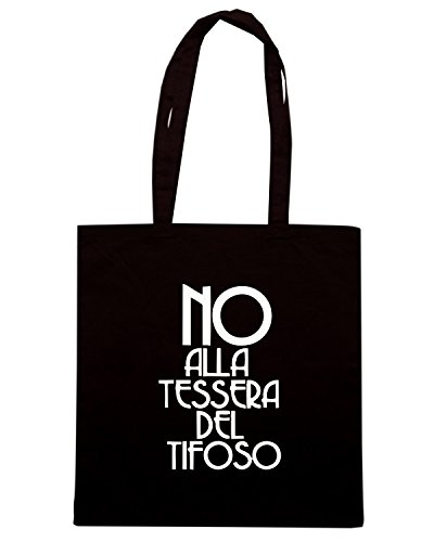 T-Shirtshock - Borsa Shopping TUM0050 ultras no alla tessera del tifoso Nero