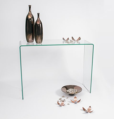 Homely - Mesa consola MURANO de cristal curvado