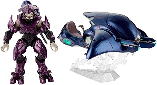 Mattel DNT97 - Halo Ghost Fahrzeug mit Elite Offizier, Aktionsspielzeug