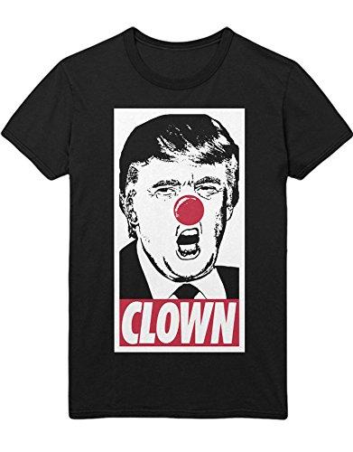 T-Shirt Donald Trump Clown Obey Stencil Parody D123458 Schwarz S