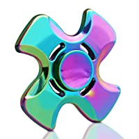 DELICACY Quad Fidget Hand Spinner, Anxiety Focusing Finger Fidget Spinner Toy
