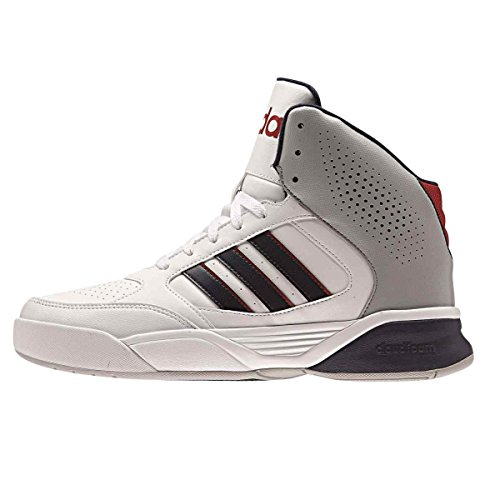 adidas Cloudfoam Nightball Herren Sneaker Weiß (White/Collegiate Navy/Power Red)
