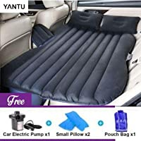 Varniraj Car Inflatable Bed | Two Pillows | (Light_Black)
