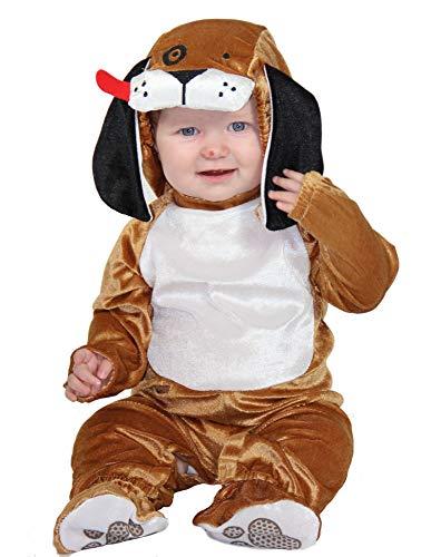 Foxxeo Baby Hunde Kostüm für Kinder Babykostüm Hundekostüm Hunde Tier Kinderkostüm Kinder Größe 74-80 (Kostüm Hund Baby)