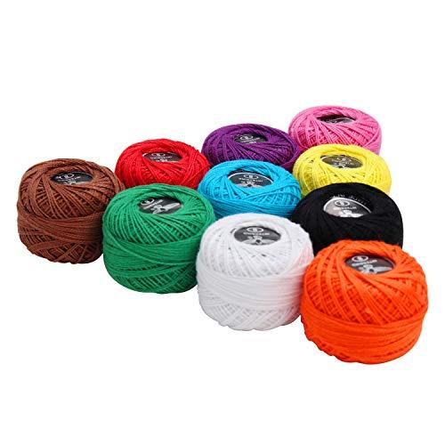 Hilo Ganchillo10 piezas - 5g Hilo algodón Tamaño