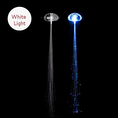 Pawaca Aufleuchten Faser Optisch LED Haar Lichter - LED-Haarspange Glasfaser Flashing Barrette für...