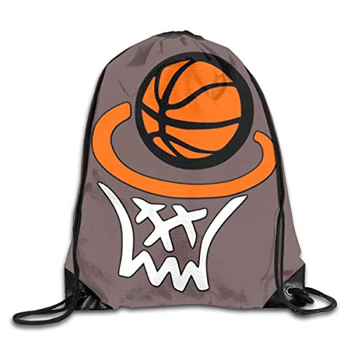 HRTSHRTE Basketball Hoop Net Drawstring Backpacks Sport Leisure Bundle Backpack Beam Backpack Sport Gym Travelling Bag (Basketball Hoops Einstellbar)