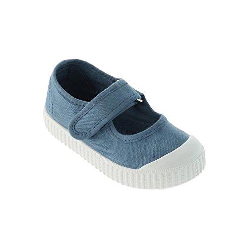 Victoria Mercedes Velcro Lona Tinta, Mädchen Hohe Sneakers Blau