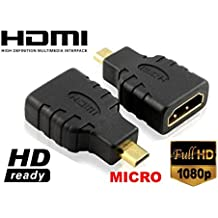 Techly Adattatore HDMI a micro HDMI tipo D (Hdmi Female Video Adattatore)