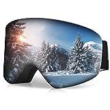 RUNACC Gafas de Esquí para Hombre y Mujer Gafas de Snowboard con Anti-Niebla y Tratamiento de...