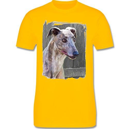 Hunde - Windhund - Herren Premium T-Shirt Gelb