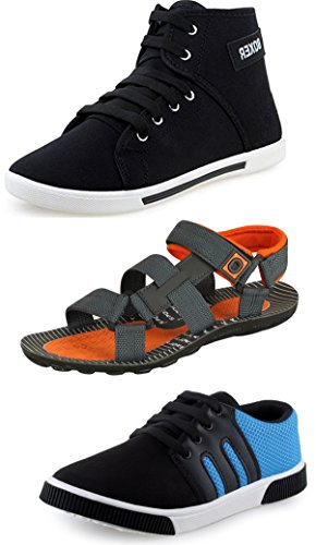 Tempo Men's Combo of Sandal & Casual Shoes-10