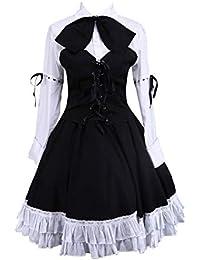 Antaina Corbata de Lazo de Encaje de algodón Negra Corbata de Vestir Retro  de Victoriana Lolita 4b8b2cb4715