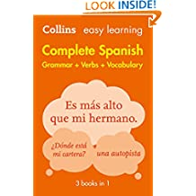 Easy Learning Spanish Complete Grammar, Verbs and Vocabulary (3 books in 1) (Collins Easy Learning Spanish) (Spanish Edition)