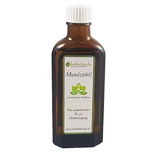 herbnaturalia  Mundziehöl - Die ayurvedische Ölzieh Kur zum Entgiften - 100ml hochwertiges Öl mit...