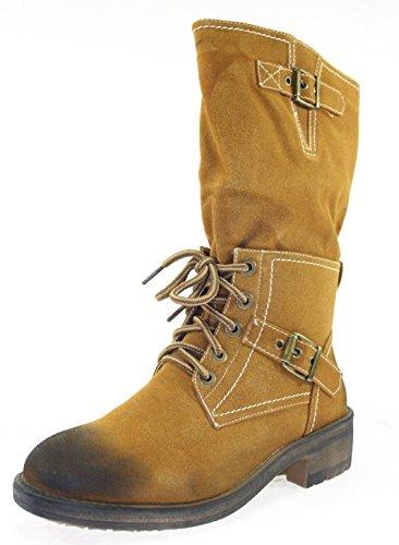 Stiefel Damenschuhe Farbe Camel mit Reißverschluss Camel