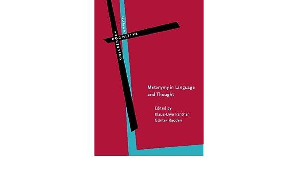 metonymy in language and thought radden gnter panther klaus uwe