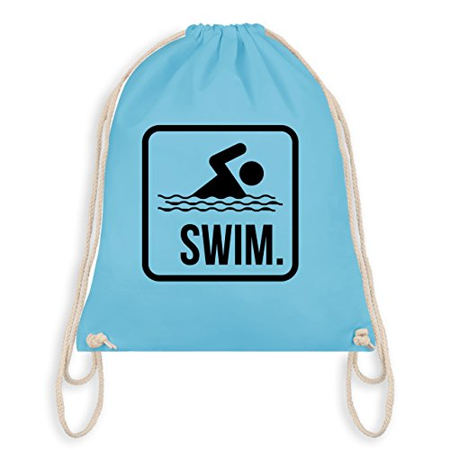Shirtracer Wassersport - Swim. - Unisize - Hellblau - WM110 - Turnbeutel & Gym Bag