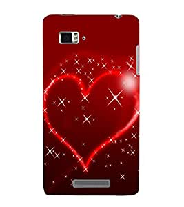 PrintVisa Red Heart 3D Hard Polycarbonate Designer Back Case Cover for Lenovo Vibe Z K910