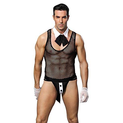 (Sexy Perspektive männlicher Diener, einheitlicher Mann, Uniform, Tanga-Unterwäsche, Unterwäsche, männliches Mädchen der Unterwäsche, geeignet für Nachtclub-Bar-Kellner)