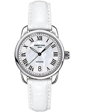 Certina Damen-Armbanduhr XS Analog Quarz Leder C025.210.16.118.01