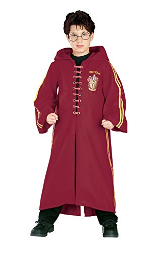 Rubies 882173 - costume harry potter quidditch deluxe, taglia l