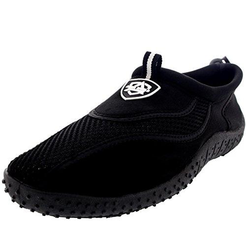 Femme Plage Piscine Mer Natation Remplir Chaussettes Surf Eau Chaussures Noir / Noir