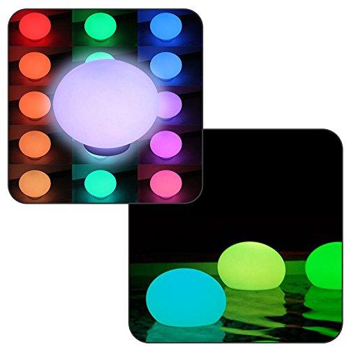 Linxor France  Flatball, Lampe LED Flottante 35cm x 35cm x 24cm Rechargeable + Télécommande - Norme CE