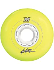 Matter Rollen Fsk - Ruedas para patines en línea, color amarillo, talla 72