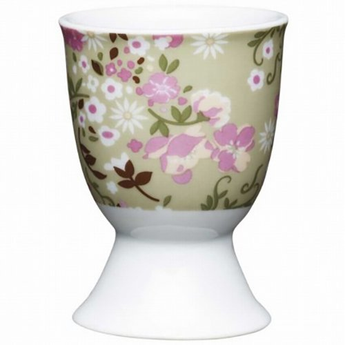 Kitchen Craft KCEGGFMEADOW Coquetier Floral Meadow désign en Porcelaine Multicolore, 9 x 12 x 16 cm