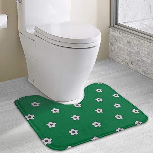 Gangster-hexe (Hoklcvd Fußball U-förmige Toilette Bodenteppich Rutschfeste Toilette Teppiche Duschmatte)
