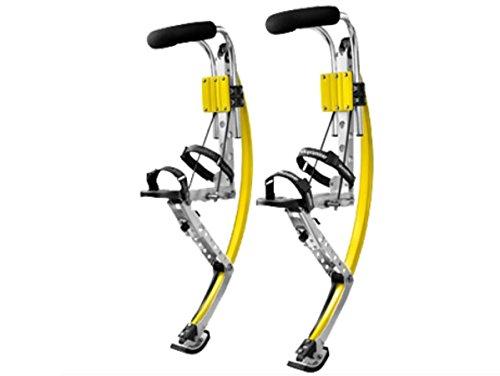 skyrunner Erwachsene Känguru-Schuhe Jumping Stelzen Fitness Übungen (200-242lbs/90~110 kg) Sprungschuhe (gelb)