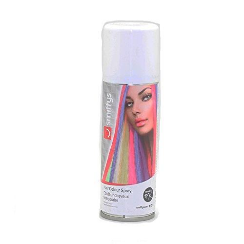 Auswaschbares Haarspray 125ml blau grün lila orange pink rot schwarz silber weiß Hair Clour Spray (Weiß)
