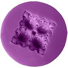 Diamantes de gema retro europeo molde de silicona líquida torta de azúcar decorado flores galletas de