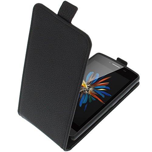 foto-kontor Tasche für TP-Link Neffos C5L Smartphone Flipstyle Schutz Hülle schwarz