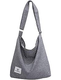 9b8ce8c05 Bolsos Mujer,Fanspack Bolso Bandolera de Lona Hobo Bag Bolsos de Crossbody  Bolsas de Hombro
