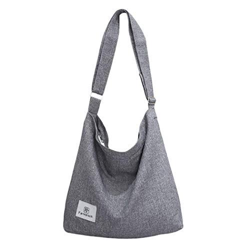 Bolsos Mujer,Fanspack Bolso Bandolera de Lona Hobo Bag Bolsos de Crossbody Bolsas de Hombro para...