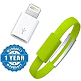 Captcha Wristband Micro Usb Cable Charging & Data Sync With 8 Pin Lightning To Micro Usb Converter Connector Compatible With Xiaomi, Lenovo, Apple, Samsung, Sony, Oppo, Gionee, Vivo Smartphones