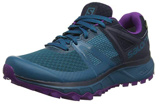 Salomon Trailster GTX W, Scarpe da Trail Running Donna, Blu (Deep Lagoon/Navy Blazer/Purple Magic), 42 EU